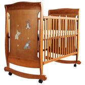 L.A. Baby 美國加州貝比 芝加哥搖擺大床/童床/木床/嬰兒床(咖啡色)063B[衛立兒生活館]
