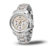 【Maserati 瑪莎拉蒂】ACTIVE POLO經典三眼鋼帶腕錶-雙色款/R8873637002/台灣總代理公司貨享兩年保固