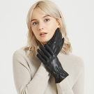 女士男士水洗皮觸屏手套秋冬季保暖開車騎車冬天加絨防水棉手套 店慶降價