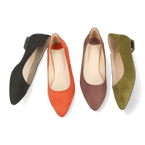 【ORiental TRaffic】舒適絨面尖楦平底鞋-波米咖