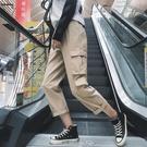 工裝褲 ins工裝褲女寬鬆bf學生cargo嘻哈帥氣潮顯瘦高腰秋季小個子直筒褲