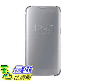 [美國直購] Samsung EF-ZG935CSEGUS 原廠 手機殼 手機套 Galaxy S7 edge Case S-View Clear Flip Cover - Silver