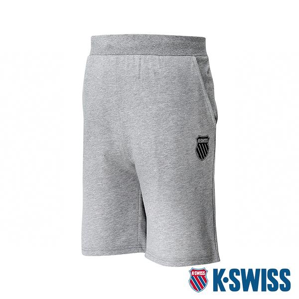 【超取】K-SWISS Ks Waist Band Sweat Shorts棉質短褲-男-灰