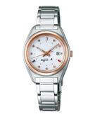 【僾瑪精品】agnes b. 巴黎時尚太陽能精緻女用腕錶-銀x玫瑰金框/28mm/V137-0BJ0S(BY2002P1)