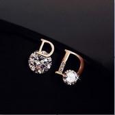 西西婭D耳環韓國氣質網紅不對稱耳釘極簡風女新款潮高級感飾新年交換禮物