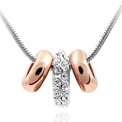 925純銀項鍊 鑲鑽墜飾-鎖骨短款生日母親節禮物女飾品1色73aj73【巴黎精品】