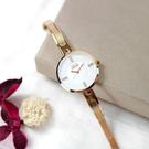 NATURALLY JOJO / JO96918-80R / 藍寶石水晶玻璃 晶鑽刻度 米蘭編織不鏽鋼手錶 白x鍍玫瑰金 31mm