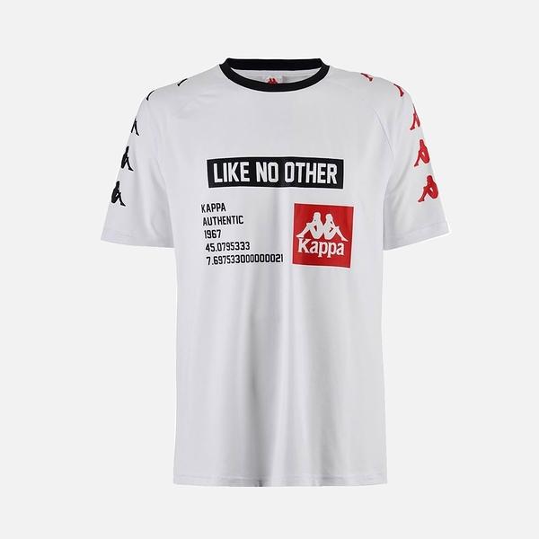 KAPPA義大利時尚AUTHENTIC BASTIL男運動短袖衫白 304IBC0912