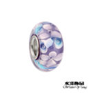淺紫藍點雙層花 潘朵拉風DIY串珠手鍊配...