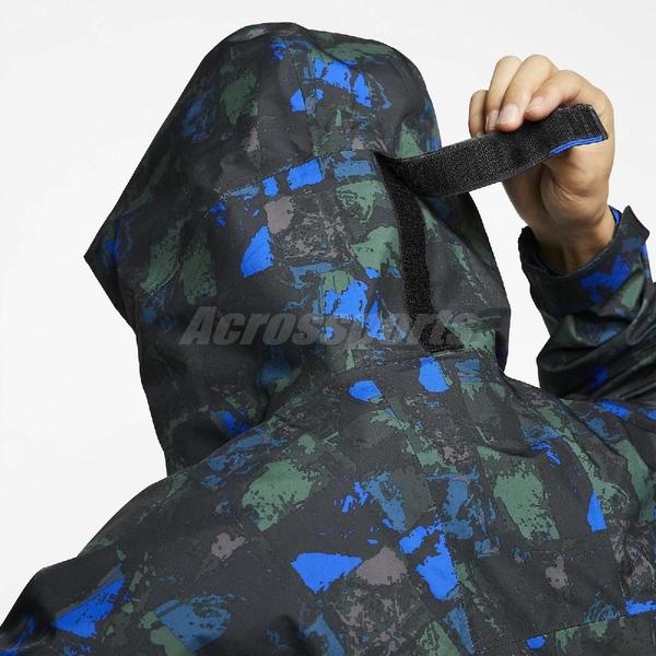 NikeLab 防風外套 ACG Gore-Tex Allover Print Jacket 藍 綠 全幅印花外套 男款 【ACS】 CI0428-416