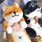 日本柴犬毛絨公仔男朋友人形抱枕靠枕小狗玩偶大玩具禮物「時尚彩虹屋」