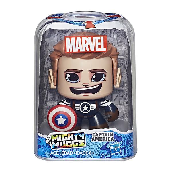 Marvel漫威英雄 孩之寶Hasbro 酷頭玩偶 Captain America 美國隊長 變臉公仔 E2199
