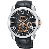 SEIKO精工 Premier 人動電能萬年曆手錶-42.9mm 7D56-0AE0E(SNP149J2)