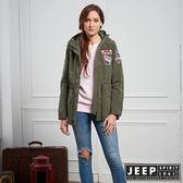 【JEEP】女裝 率性百搭俐落軍裝外套 (軍綠)