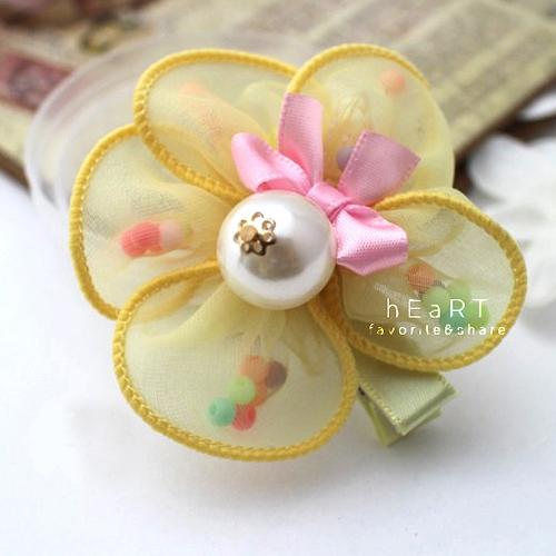 精緻五瓣花朵髮夾 髮夾 髮飾 兒童 花朵