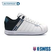【超取】K-SWISS Lundahl WP格紋防水時尚運動鞋-男-白/綠/黑