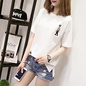 白色t恤女短袖2021年夏季純棉韓版寬鬆打底衫新款簡約內搭上衣潮【快速出貨】