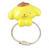 小禮堂 布丁狗 磁吸式鑰匙圈 吊飾 掛飾 吸鐵 鑰匙收納 (黃棕 大臉) 4991567-26702