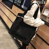 單肩包女大包學生校園韓版包包大容量簡約百搭布袋包帆布文藝斜背 麥琪精品屋