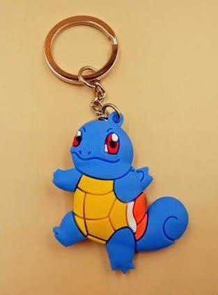 傑尼龜鑰匙圈 精緻雙面神奇寶貝 寶可夢聯盟 鑰匙圈☆生日禮物 包包配件 時尚飾品☆