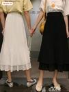 雪紡半身裙年夏季學生春秋裙子仙女超仙森系中長款雪紡半身裙女春季特賣