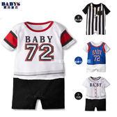 連身衣 球類運動造型 短袖連身衣 四色 寶貝童衣