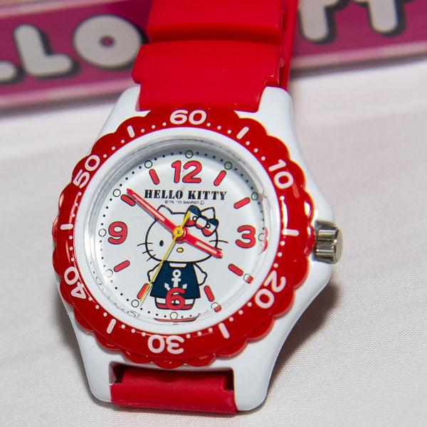 紅色 Hello Kitty CITIZEN 星辰錶 氣壓防水指針式手錶 日本限定 附精美禮盒