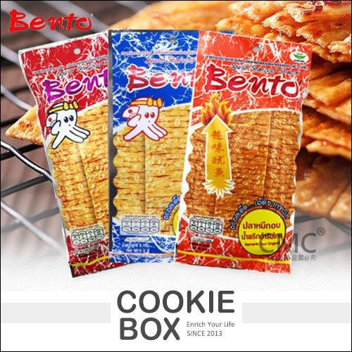 泰國 bento 超味 魷魚片 5g 甜味 麻辣 蒜香 泰式香 *餅乾盒子*