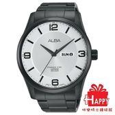 AV3341X1黑白面VJ43-X028SD ALBA雅柏 簡約風格日曆星期 男腕錶