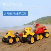 耐摔兒童沙灘玩具車大號工程車推土機挖掘機鏟車翻斗卡車模型男孩TBCLG