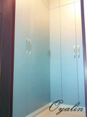 【歐雅系統家具】L型衣櫃+穿衣鏡 +分格抽屜