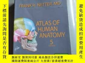 二手書博民逛書店ATLAS罕見OF HUMAN ANATOMY , 5 EDIT