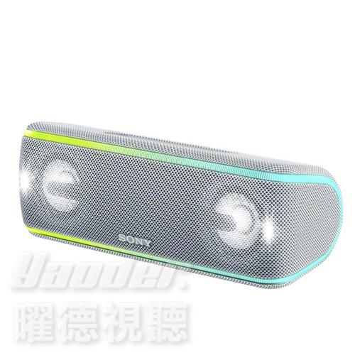 【曜德 送音源線+KKBOX30天】SONY SRS-XB41 白 重低音防水聲光 藍芽喇叭