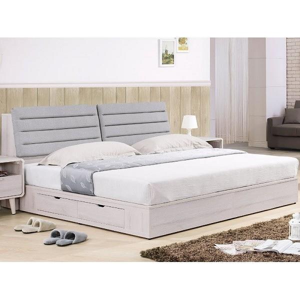 床架 TV-77-2B 珊蒂5尺四抽收納雙人床 (床頭+床底)(不含床墊) 【大眾家居舘】