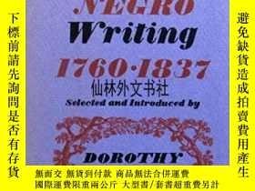 二手書博民逛書店【罕見】1971年出版 Early Negro Writing
