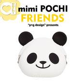 p g design mimi POCHI FRIENDS 繽紛馬戲團系列立體動物 零錢包收納包微笑熊貓