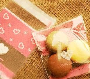 95入 日式愛心 透明袋 封口袋 包裝袋D026