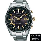 【僾瑪精品】SEIKO ASTRON 衛星校時GPS 鈦金屬太陽能腕錶-黑X金/45mm-8X22-0AG0K(SSE087J1)