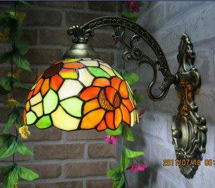 設計師美術精品館歐美式蒂凡尼壁燈 帝凡尼鏡前燈 床頭燈 過道燈浴室燈 向日葵