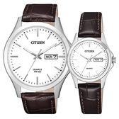 CITIZEN 懷舊沉穩俐落對錶-BF-2001-12A_EQ0591-21A