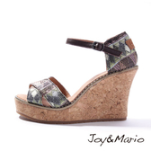 【Joy&Mario】民族風設計時尚厚底涼鞋 - 88053W GREEN