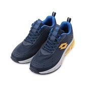 LOTTO 氣動樂跑 KPU氣墊跑鞋 深藍黃 LT1AMR3106 男鞋