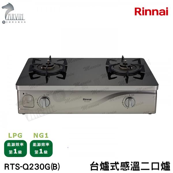 《林內牌》台爐式 感溫二口爐 RTS-Q230G(B)