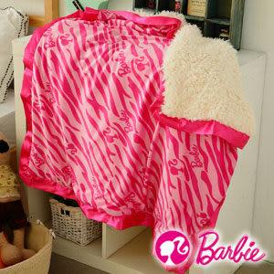 【Barbie】熱力斑馬系列-北極熊蜜絨毯《小件90x90cm《粉紅》》