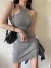 掛脖洋裝 歐美ins辣妹吊帶連身裙掛脖性感包臀短裙女裝夏季2021年新款裙子 韓國時尚 618