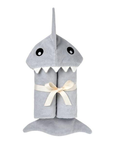 【美國Elegant Baby】動物造型連帽浴巾- 小鯊魚
