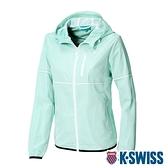K-SWISS Color Trims Jacket抗UV防風外套-女-淺綠