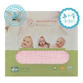 英國 JUST GREEN 嬰兒六層澎澎紗純棉紗布浴巾-粉紅