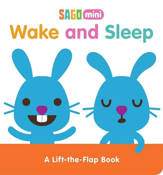 【幼兒床前故事書】WAKE AND SLEEP /硬頁翻翻書《主題:動物.床邊故事》
