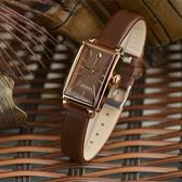 流行女錶新款聚利時長方形手錶女韓國時尚潮流皮帶女表防水時裝女士表 時尚新品